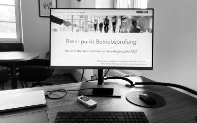 IDW Vortrag von SCHÄFER.RECHT – Brennpunkt Betriebsprüfung